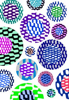Bright Patterned Circles Limited Edition by SarahBagshawPattern