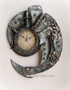 Steampunk Spiral Time clock by ~Diarment on deviantART