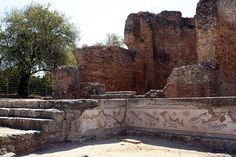 Ruins of Roman Villa, Milreu Portugal. 10 km away from our Country House in the Algarve.