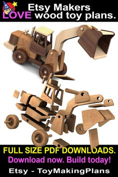 Woodworking Toys, Woodworking Projects Diy, Coconut Shell Crafts, Building Toys For Kids, Model Truck Kits, Award Display, Wooden Toy Trucks, Making Wooden Toys, Wood Craft Patterns