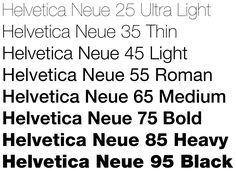 I love the Helvetica font. This is a fave font of mine when doing headlines for copywriting clients.  I love that it is easy to read, simple, clean, bold.  I especially like the skinnier, lighter Helvetica fonts such as the Neue 45 Light & Neue 35 Thin