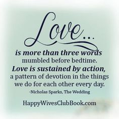love is more than three words mumbles before bedtime