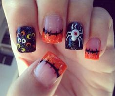 halloween-acrylic-nails-art-designs-Ideas-cute | French Manicure