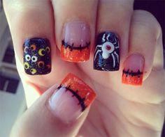 halloween-acrylic-nails-art-designs-Ideas-cute | French Manicure