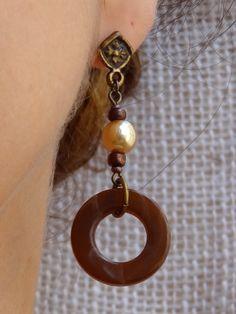 815dfc2a399 Brincos Pérola e Argola - Pearl and Hoop Earring