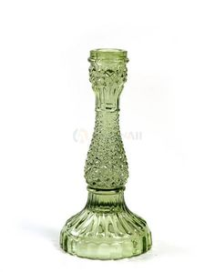 Green candleholder by www. Spring Home Decor, Candle Holders, Vase, Green, Flowers, Decoration, Colors, Candlesticks, Decorating