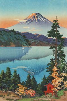 Japanese Art Prints, Japanese Artwork, Japanese Painting, Chinese Painting, Japan Illustration, Botanical Illustration, Frida Art, Japanese Landscape, Japanese Koi