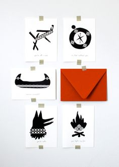 Image of Camp Quilt Cards - by http://www.good-voyage.com/