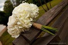 White Bridal Bouquet of Roses, Hydrangea and Ranunculus