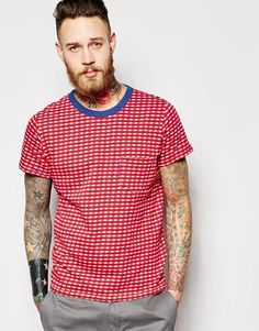 "T-shirt by Levi's Vintage Clothing Jacquard jersey Crew neck Chest patch pocket Regular fit - true to size Machine wash 100% Cotton Our model wears a size Medium and is 191cm/6'3"" tall"