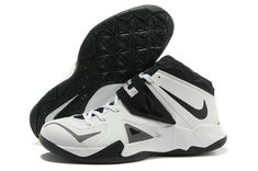 release date cad46 aa872 Nike Zoom Soldier VII White Black Metallic Silver 599263 100