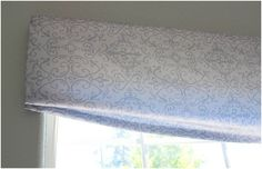 How to DIY - no sew swag valance