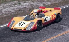 The Racing Team AAW Porsche 908/02 of Hans Laine and Gijs van Lennep at the 1970 12 Hours of Sebring.