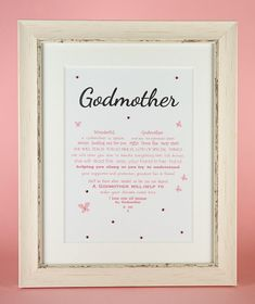 Godmother Gift Godfather gift Godparent Gift  by UniqueWordsJersey