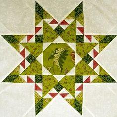 Beautiful! Quilt block pattern by Sue Garman.