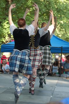 On the right, from the rear - kilt with black vest #MacPherson #Black #Tartan