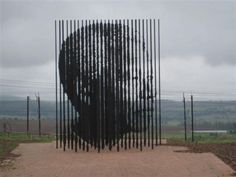 Sculpture in honor of Nelson Mandela. Page 1