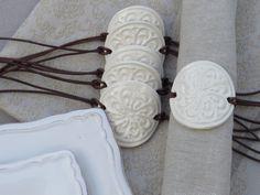 Ceramic napkin rings napkin holder by gedemuck on Etsy https://www.etsy.com/listing/505445765/ceramic-napkin-rings-napkin-holder