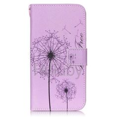 Wallet Style Magnetic Side Flip Stand TPU + PU Leather Case for Samsung Galaxy S6 G9200 - Dandelion