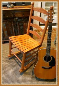 Armless Rocking Chair is great for guitarist!