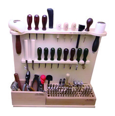 Say goodbye to misplaced tools or tools damaged or made grimy in cramped tool boxes with this incredible Deluxe Tool Knife Storage Rack specifically