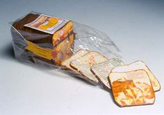 Catcher in the Wry, Party Size by Amee J. Pollack (NJ) Collage, acrylic, sewn vinyl, inkjet printing, cork 3.75 x 9 x 3.75