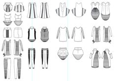 Flat/ Technical Fashion Drawings