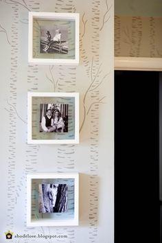 birch tree wall stencil