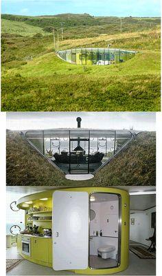 Malator Underground Eco House, Druidstone, Wales