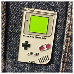 Game Boy enamel pin