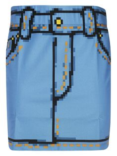 MOSCHINO PIXILATED MINI SKIRT. #moschino #cloth
