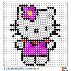Hello Kitty 3 Bügelperlen Vorlage. Auf buegelperlenvorlagen.com kannst du eine große Auswahl an Bügelperlen Vorlagen in PDF Format kostenlos herunterladen und ausdrucken.