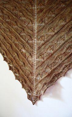Muster stricken / Joyeux Spitzen Shawlette / von phydeauxdesigns