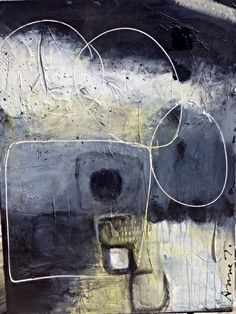 Abstract painting by Anne Thériault- Gather yourself.