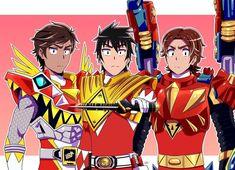 with ・・・ Power of the Tyrannosaurus - - - Power Rangers Fan Art, Power Rengers, Kamen Rider Zi O, Mighty Morphin Power Rangers, Fantasy Fiction, Anime Cat, Tyrannosaurus, Pokemon, Digimon