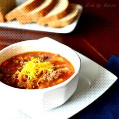 Vegetables, Hamburger, Spices, and Barley, make up th. Hamburger Spices, Flu, Stew, Chili, Vegetables, Chile, Vegetable Recipes, Chilis, Veggies