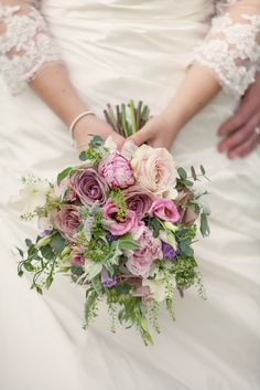 Pretty, natural pastel bouquet - Bridal bouquet by Lindsey at The White Horse Flower Co