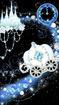 By Artist Unknown. Blue Wallpapers, Pretty Wallpapers, Wallpaper Backgrounds, Wallpaper Quotes, Bling Wallpaper, Flowery Wallpaper, Cinderella Wallpaper, Disney Wallpaper, Cellphone Wallpaper