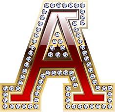 Oh my Alfabetos!: Alfabeto rojo co orilla dorada con brillantes incrustados.
