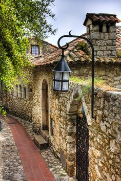 Ambience, mood, stonewalls, ironwork, everything just perfect. I would love to visit - Eze, France.