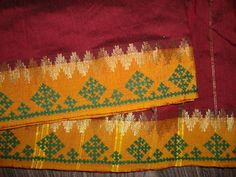 what is kantha embroidery Hand Work Embroidery, Embroidery Saree, Embroidery Motifs, Indian Embroidery, Hand Embroidery Designs, Beaded Embroidery, Kutch Work Saree, Work Sarees, Kutch Work Designs