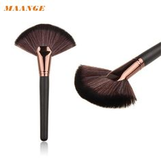 MAANGE Makeup Large Fan Goat Hair Blush Face Powder Foundation Cosmetic make up Brush  pincel maquiagem D6610 #Affiliate