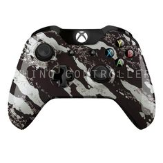 Custom XBOX One controller Wireless Glossy WTP-200-Black-Silver-Marble Custom Painted- Without Mods