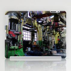 Iron Giant iPad Case by Regina Hoer - $60.00  ~ Giant Screw Press ~  #iron #screwpress #press #giant #photography #industry #factory #workshop
