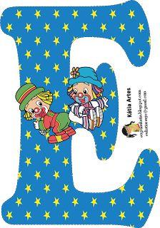 "Képtalálat a következőre: ""clown clipart"" Cool Alphabet Letters, Cute Letters, Alphabet And Numbers, Circus Theme, Circus Party, Scrapbook Letters, Disney Alphabet, Clown Party, Send In The Clowns"