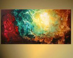Acryl moderne abstrakte Malerei zeitgenössische von OsnatFineArt