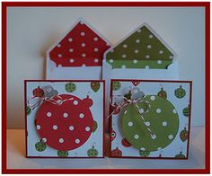 3x3 holiday cards and envies