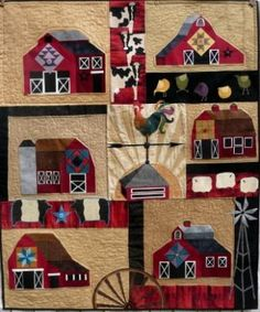 wall quilt of barn quilts
