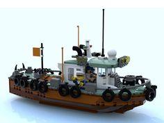 Lego tugboat with fender tires Legos, Bateau Lego, Lego Cars, Lego Machines, Lego Ship, Lego Builder, Lego Modular, Lego Worlds, Cool Lego Creations