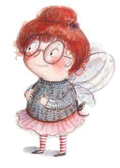Fairy,  illustration by Ania Simeone